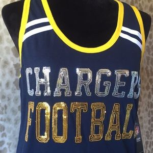 NWT NFL San Diego Chargers Sequence Tank Top